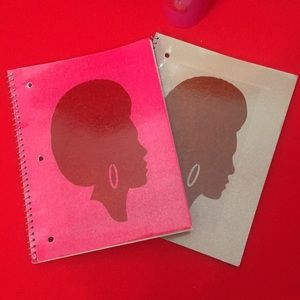 Other - Glitter Afro Notebook